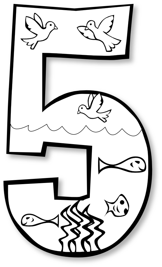 One clipart black and white. Creation