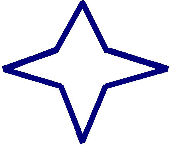 Blue point star clip. Dot clipart four