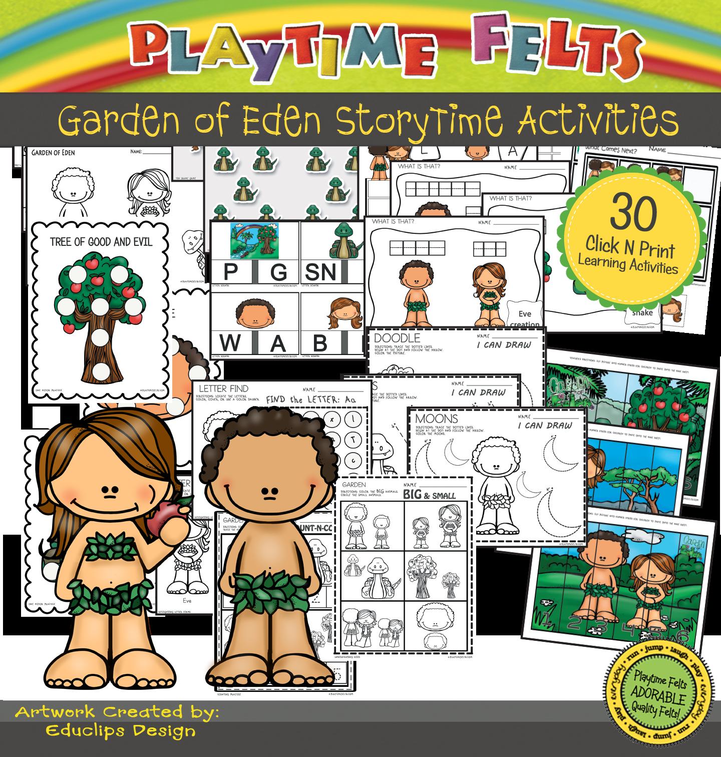 Storytime clipart mat time. Garden of eden activities