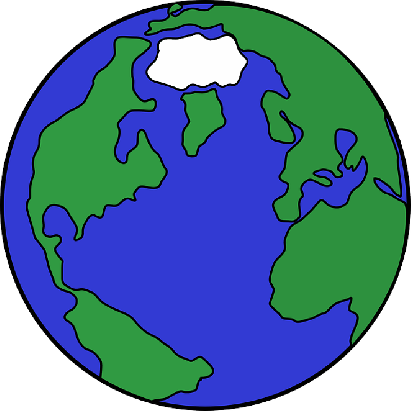 Globe clipart silhouette. Earth map at getdrawings
