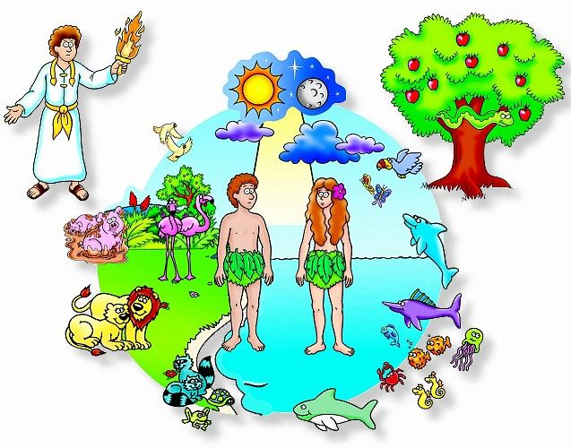Picture godsdienst flannel board. Creation clipart god creation