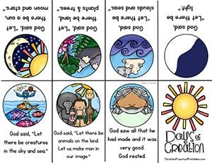 Creation clipart god plan. Preschool printables christian