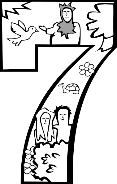 Heaven clipart creation gods. Coloring pages day clip