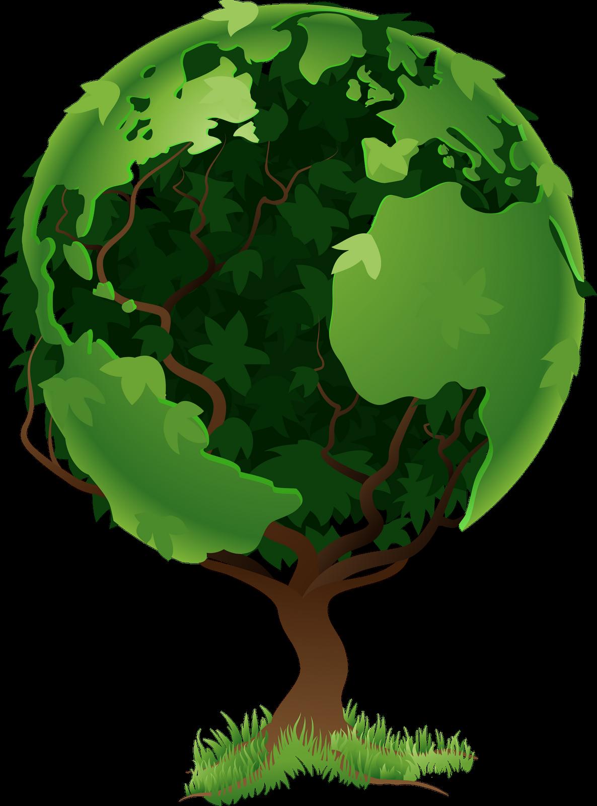 Juego de la oca. Globe clipart tree