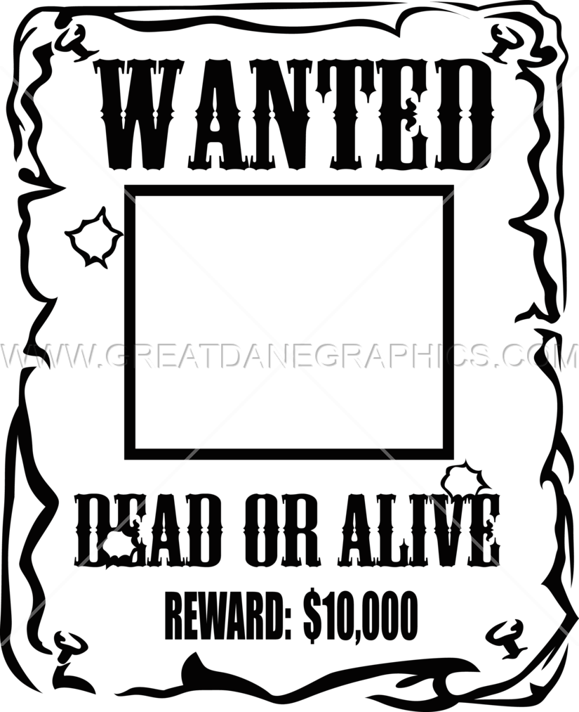 Wanted production ready artwork. Creation clipart poster
