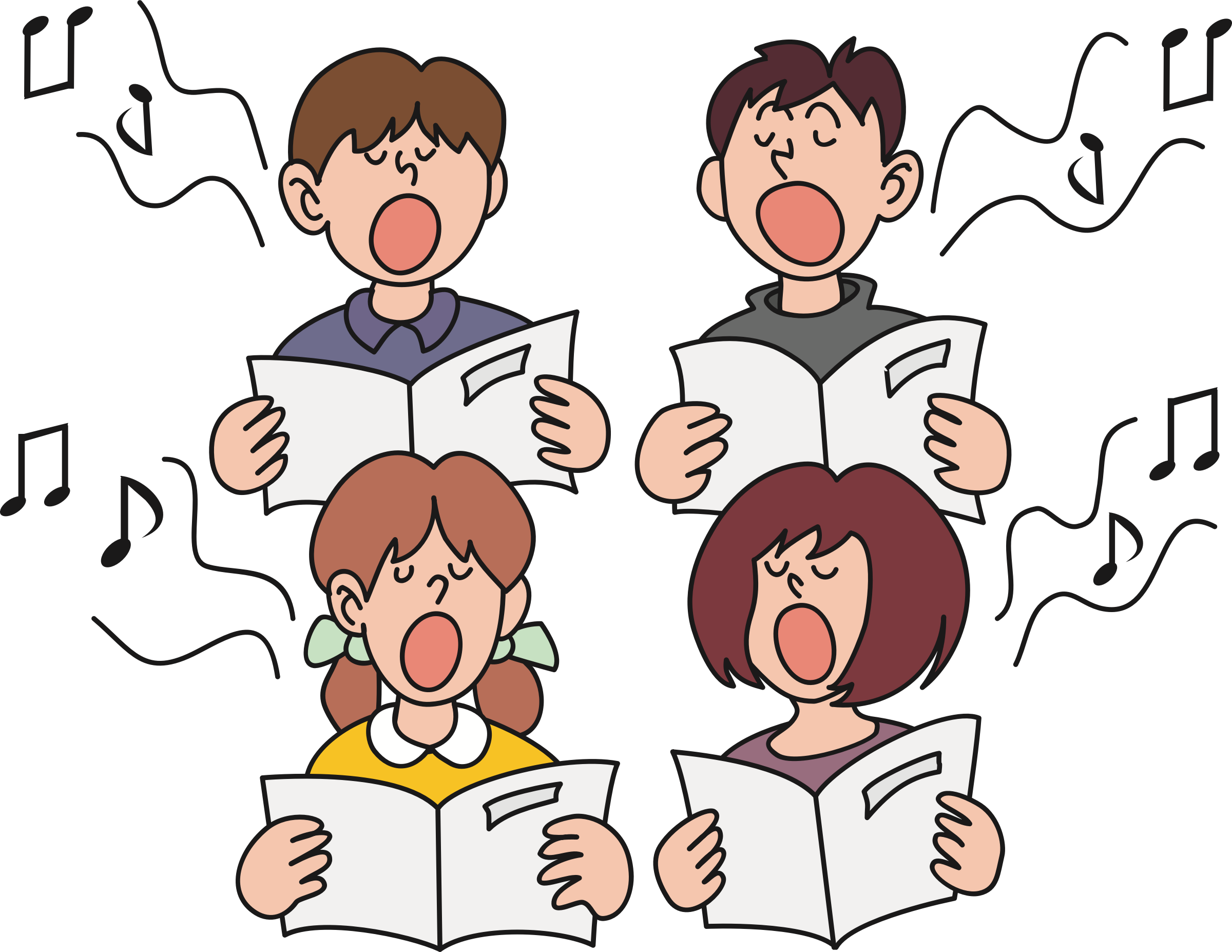 Musician clipart boy singer. Children singing big image