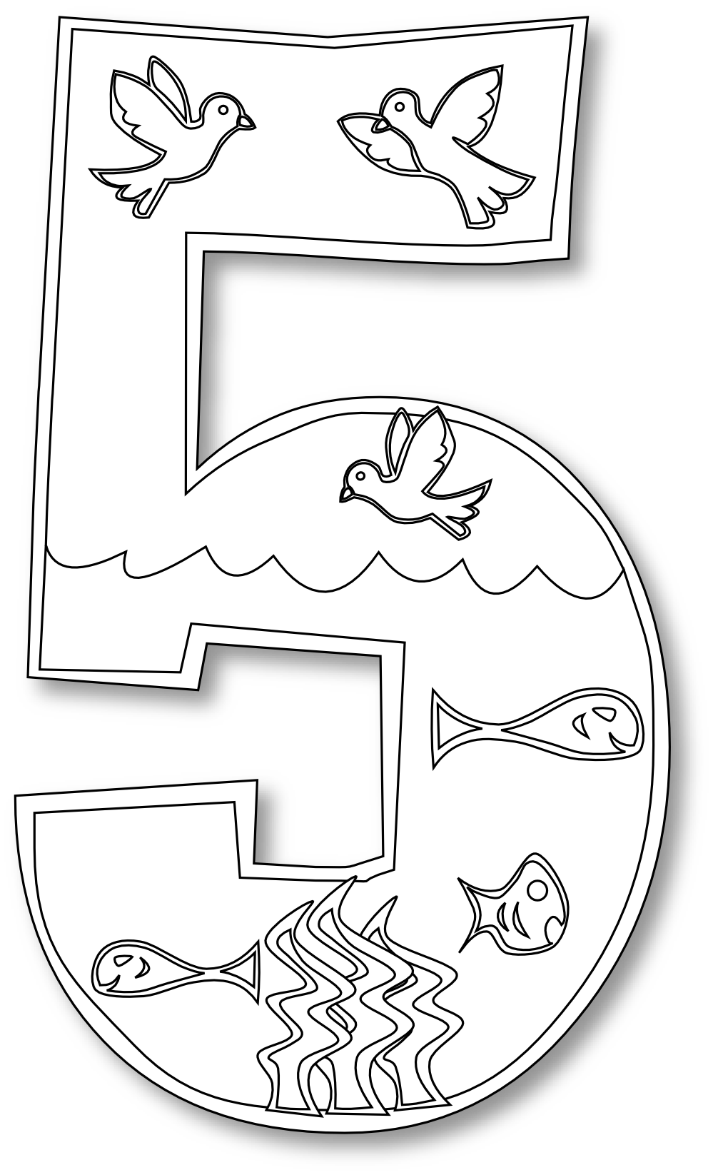 Creation clipart sequence. Coloring pages for children