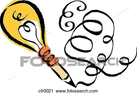 Writing clip art of. Creative clipart