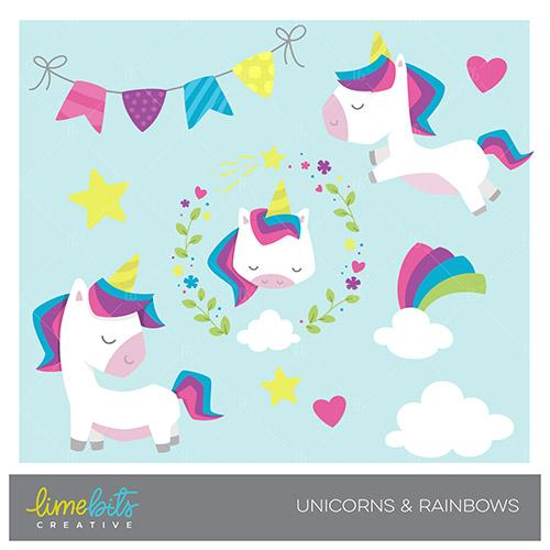 Lime bits mygrafico unicorns. Creative clipart