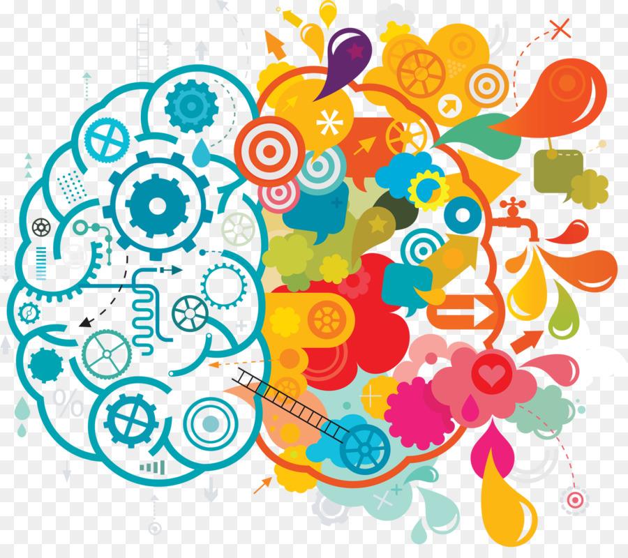 Your brain creativity lateralization. Creative clipart