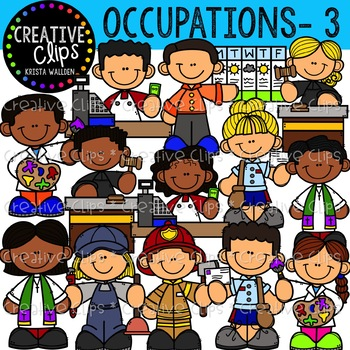 Creative clips . Firefighter clipart different occupation