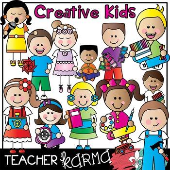 Kids art . Creative clipart creative child