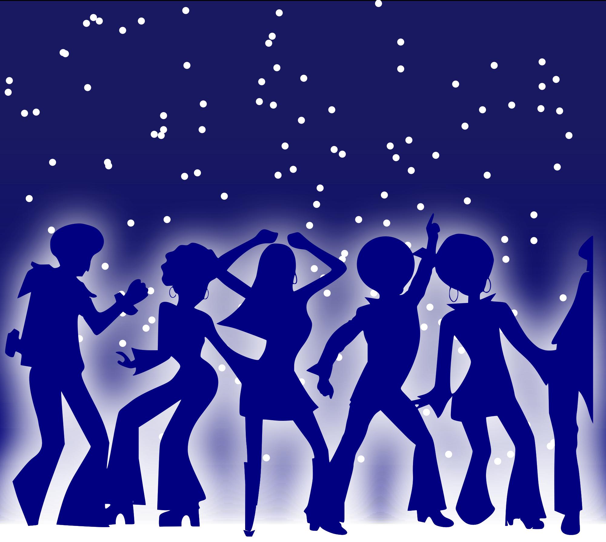 Dance clipart graduation. File disco dancers svg