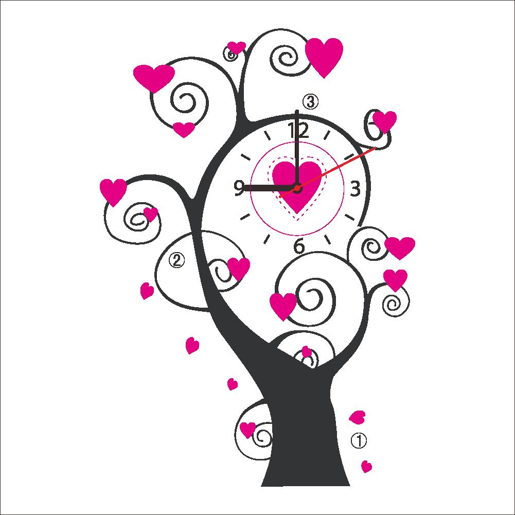 Creative clipart creative tree. Diy love wall clock