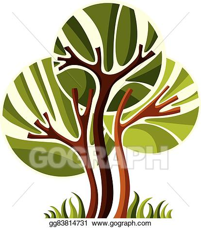 Vector stock artistic stylized. Creative clipart creative tree