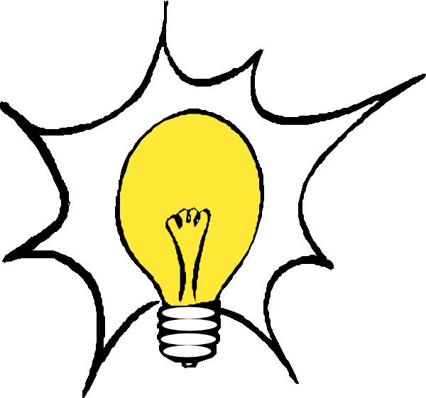 Epiphany clipart animated. Light bulb blinks pencil