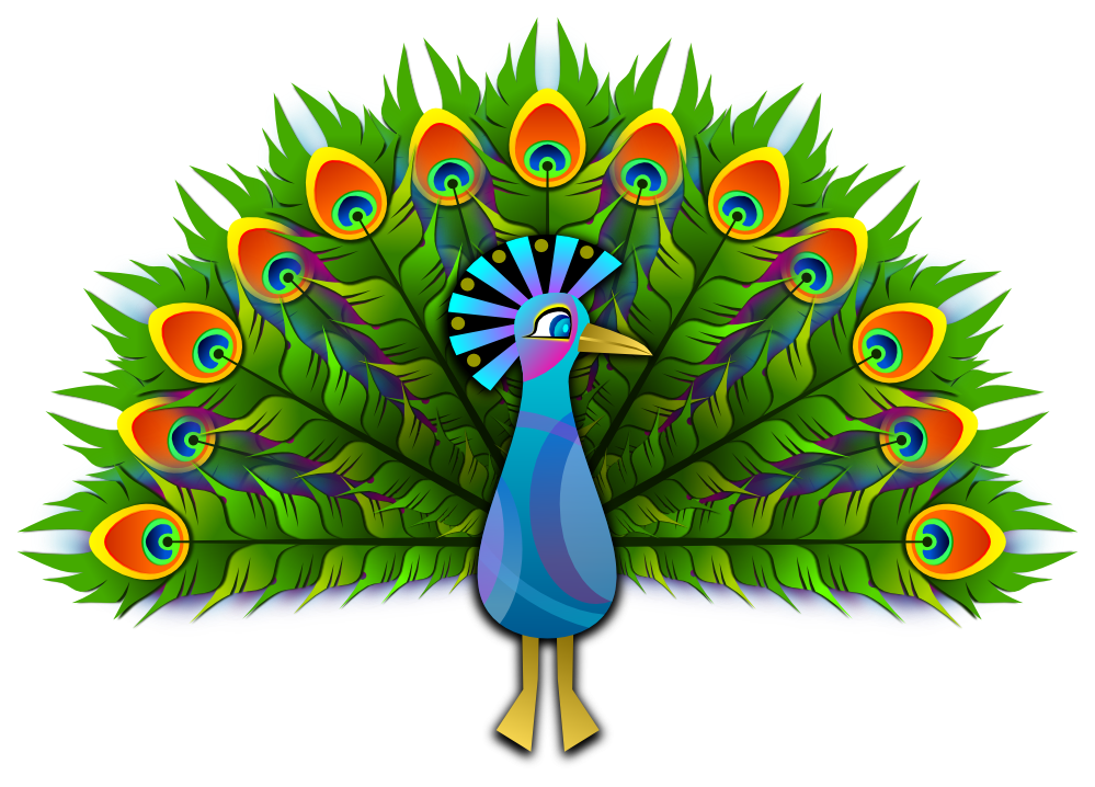 peacock clipart creative