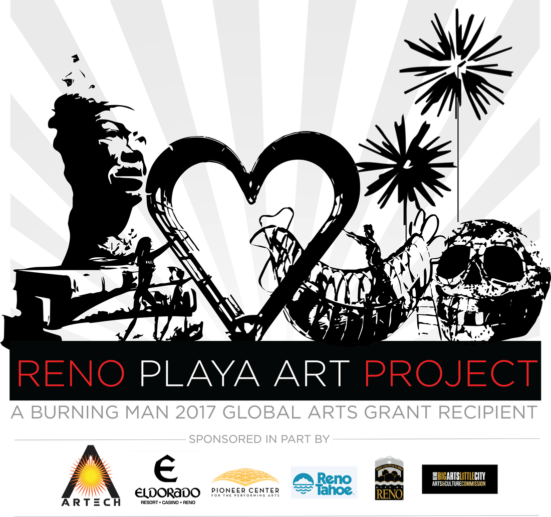 Sunset clipart playa. The reno art project