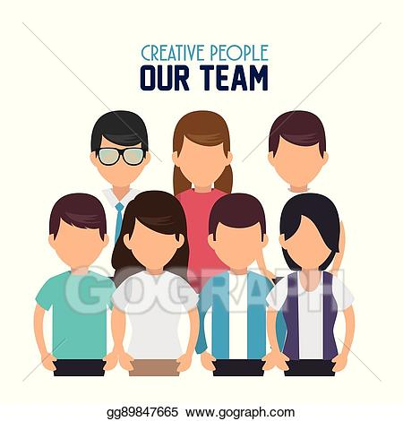 Creative clipart team. Vector stock people our