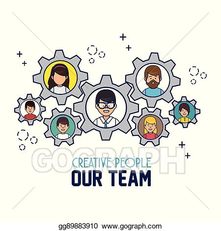 Vector stock people our. Creative clipart team