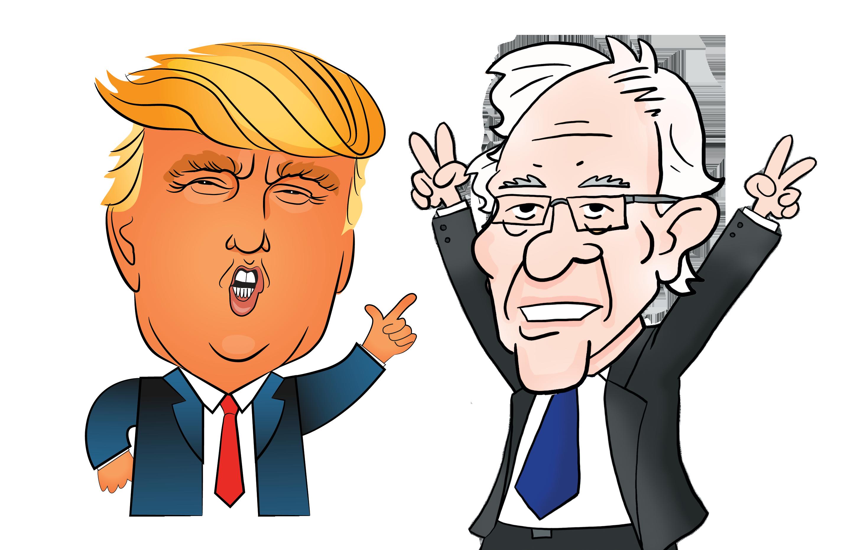 Human clipart creative. Trump sanders lessons on