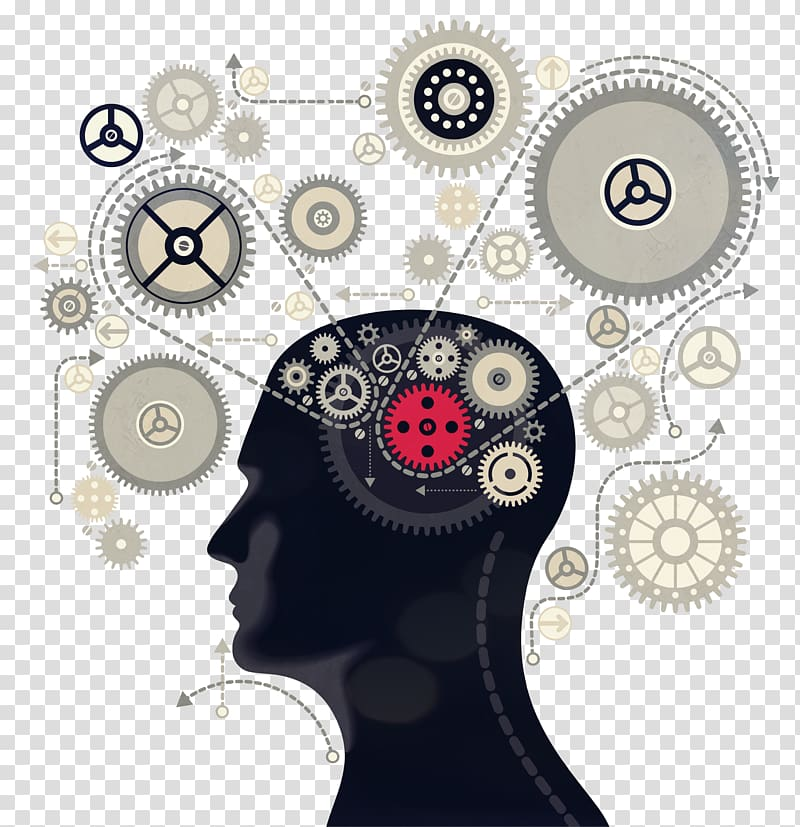 Psychology clipart creative mind. Human head with gears