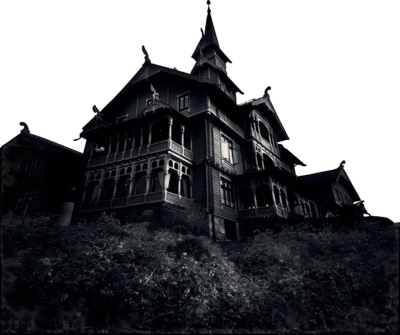 Haunted mansion transparent images. Creepy house png