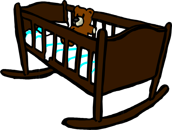 Brown clip art at. Crib clipart