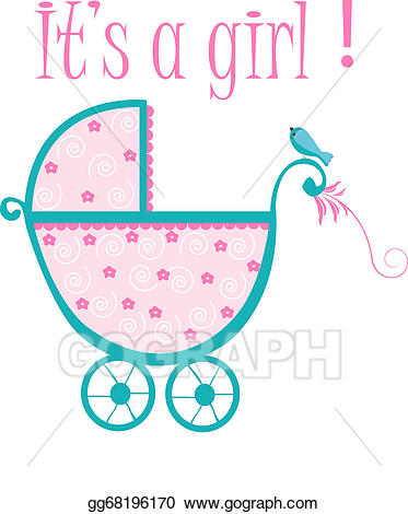 Crib clipart baby thing. Vector stock illustration gg