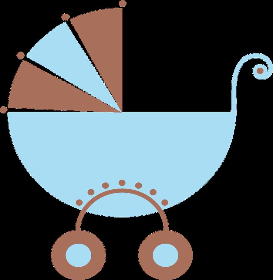 Beb menino e menina. Ladybug clipart stroller