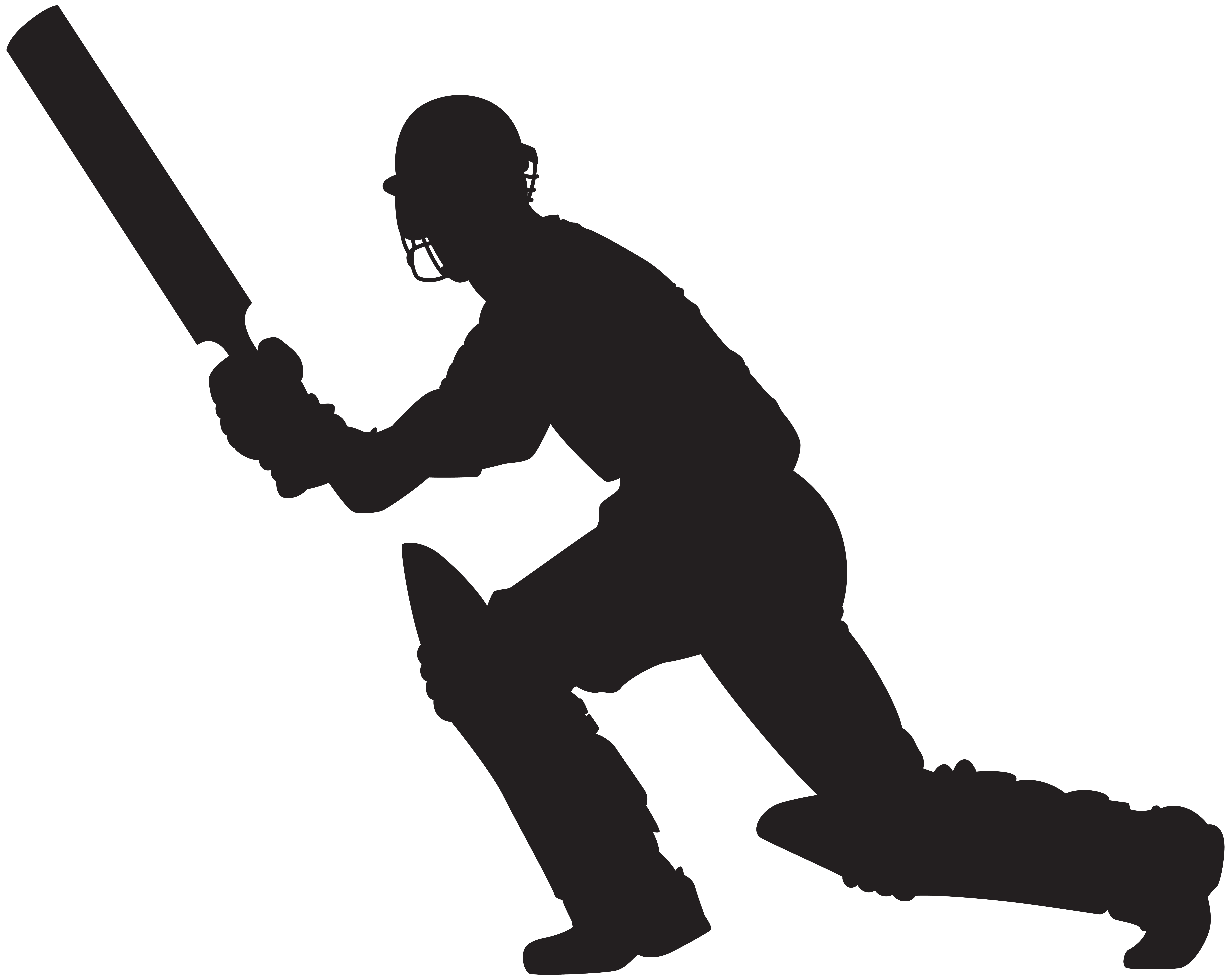 Clipart baseball silhouette. Cricket player png clip