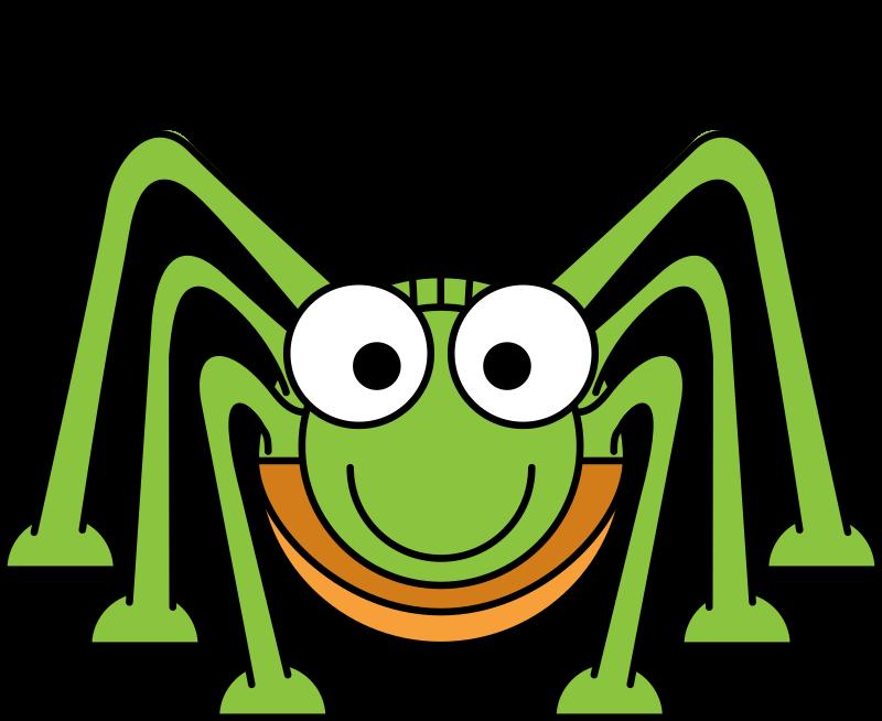 Cartoon grasshopper medium image. Cricket clipart animated