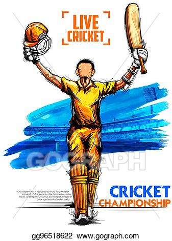 Cricket clipart cricket champion. Clip art vector batsman