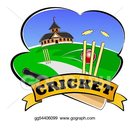 Cricket clipart cricket club. Drawings stock illustration gg