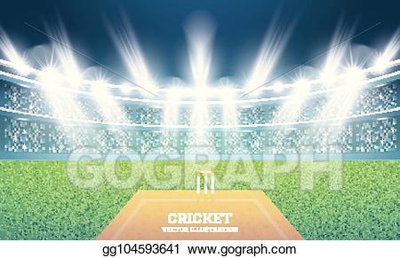 Vector art stadium with. Cricket clipart cricket ground