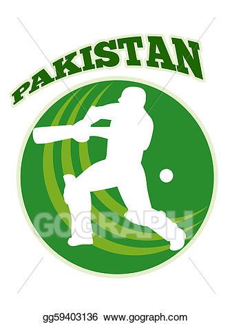 Player batsman batting retro. Cricket clipart cricket pakistan