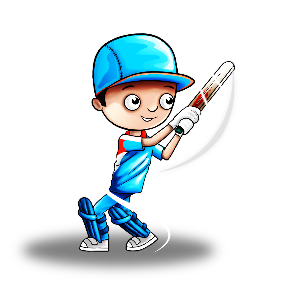 Cricket Player Clip Art - Royalty Free - GoGraph