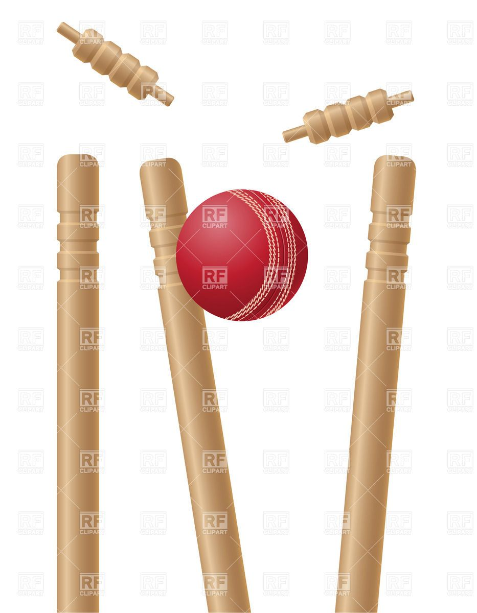 Cricket clipart cricket wicket. Cricet wickets and ball