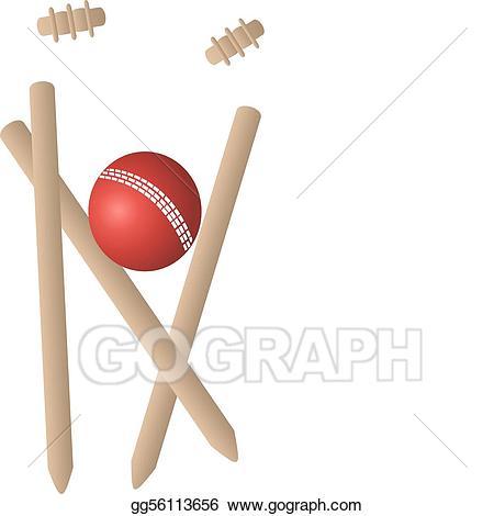 Eps vector wickets ball. Cricket clipart cricket wicket