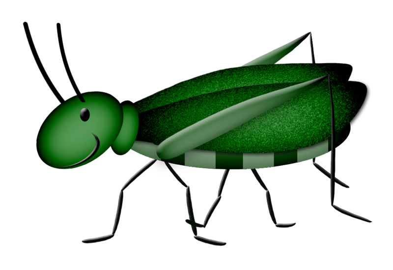 Lacarolita spring joy cricket. Inchworm clipart gardener