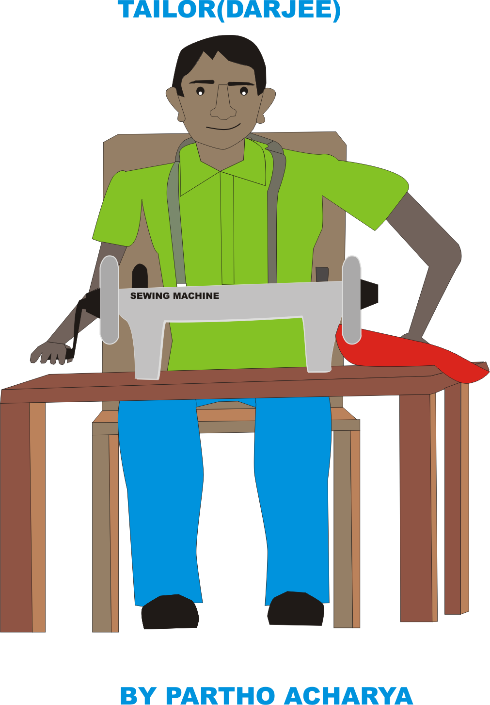 Man clipart sewing. Clip art for free