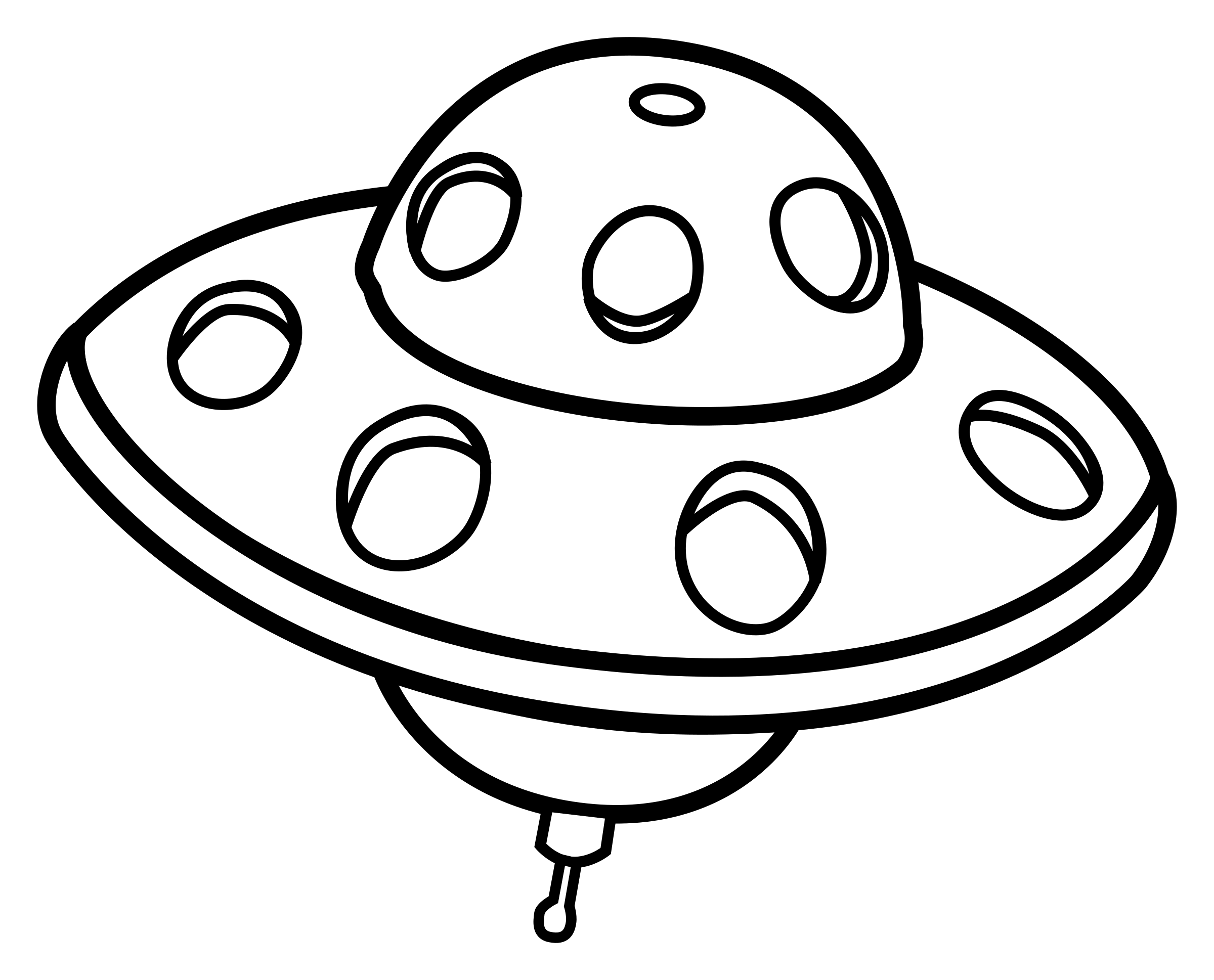 ufo clipart line art