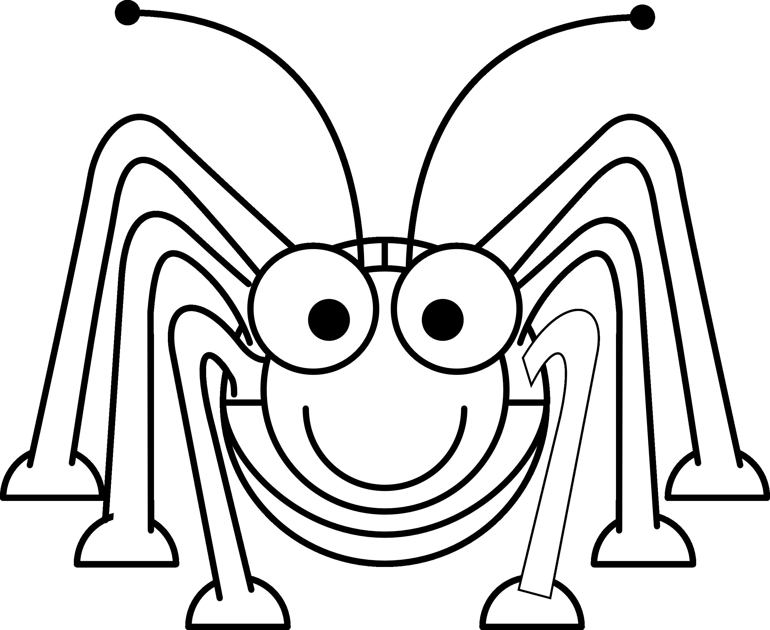 Grasshopper black and white. Cricket clipart quick