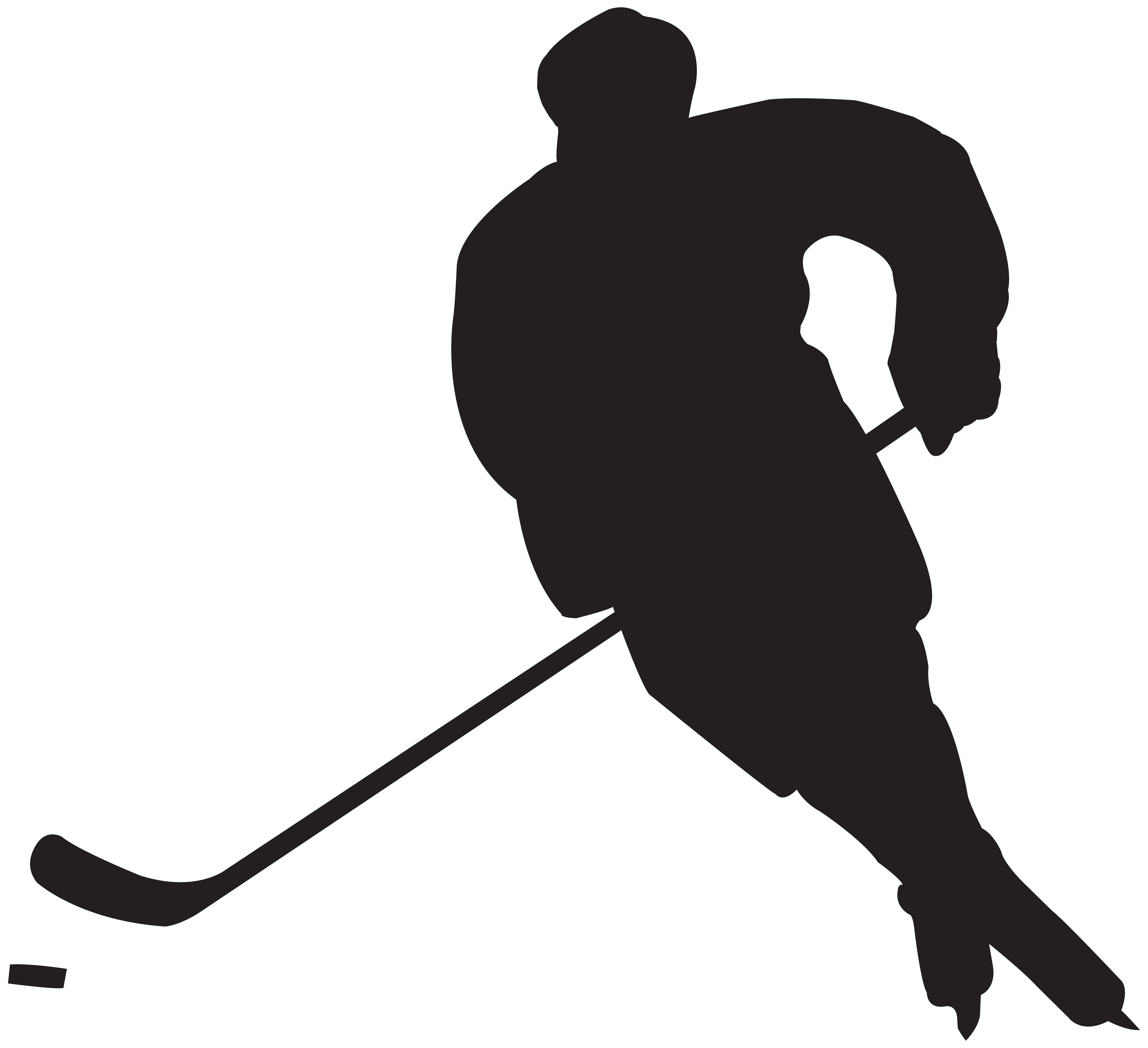 collection of player. Hockey clipart line art