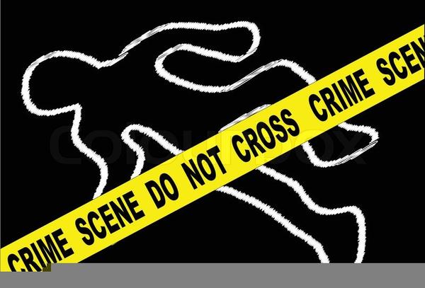 Crime clipart. Scene body outline free