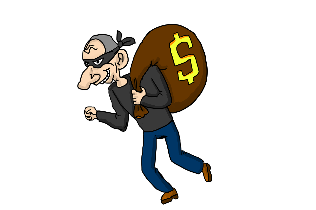 Does not want his. Crime clipart bank robber