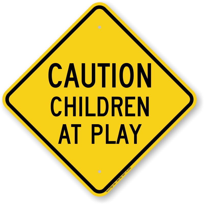 Children at play signs. Driver clipart bus stop sign