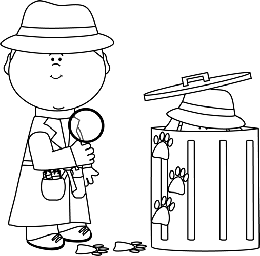 Detective looking clues clip. Evidence clipart look for clue