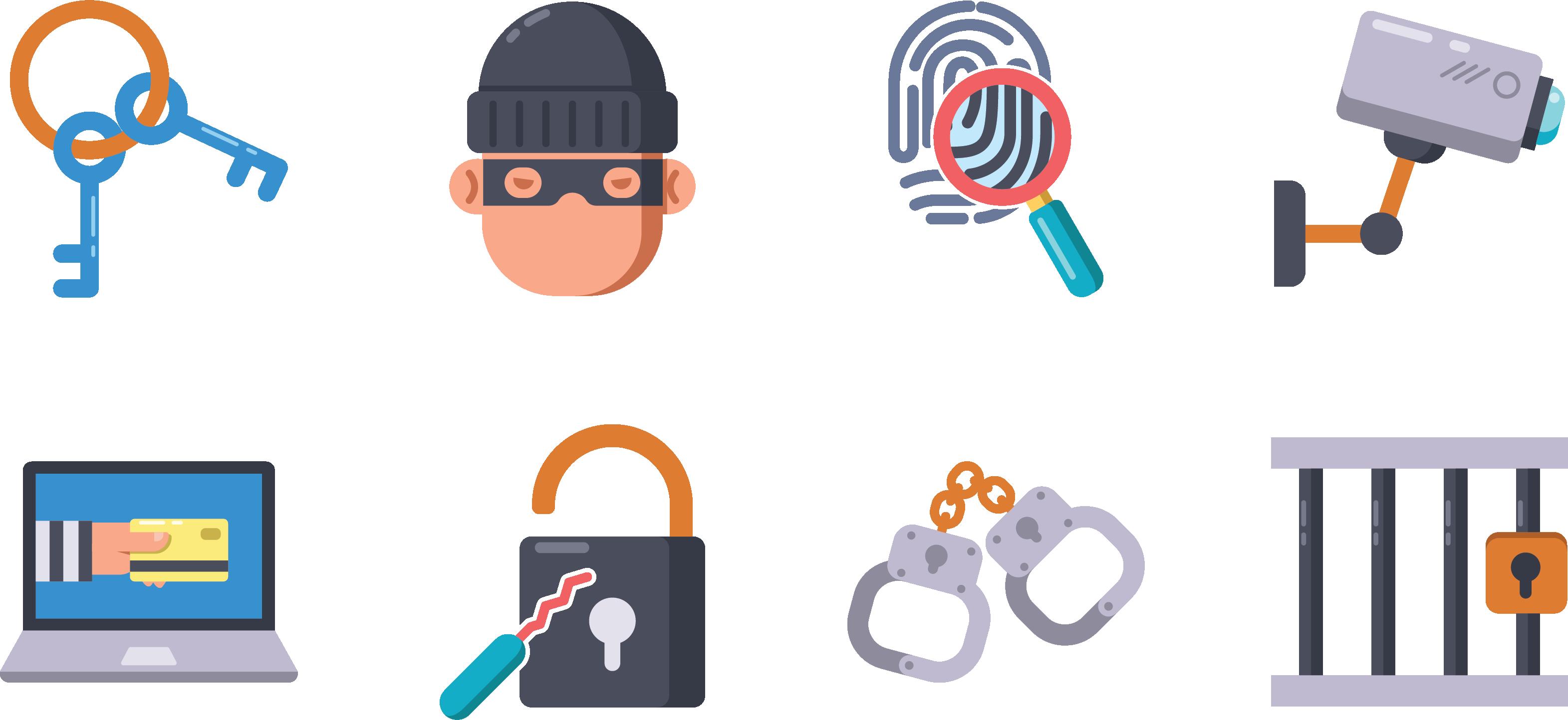 Crime robbery icon criminals. Handcuffs clipart criminal court