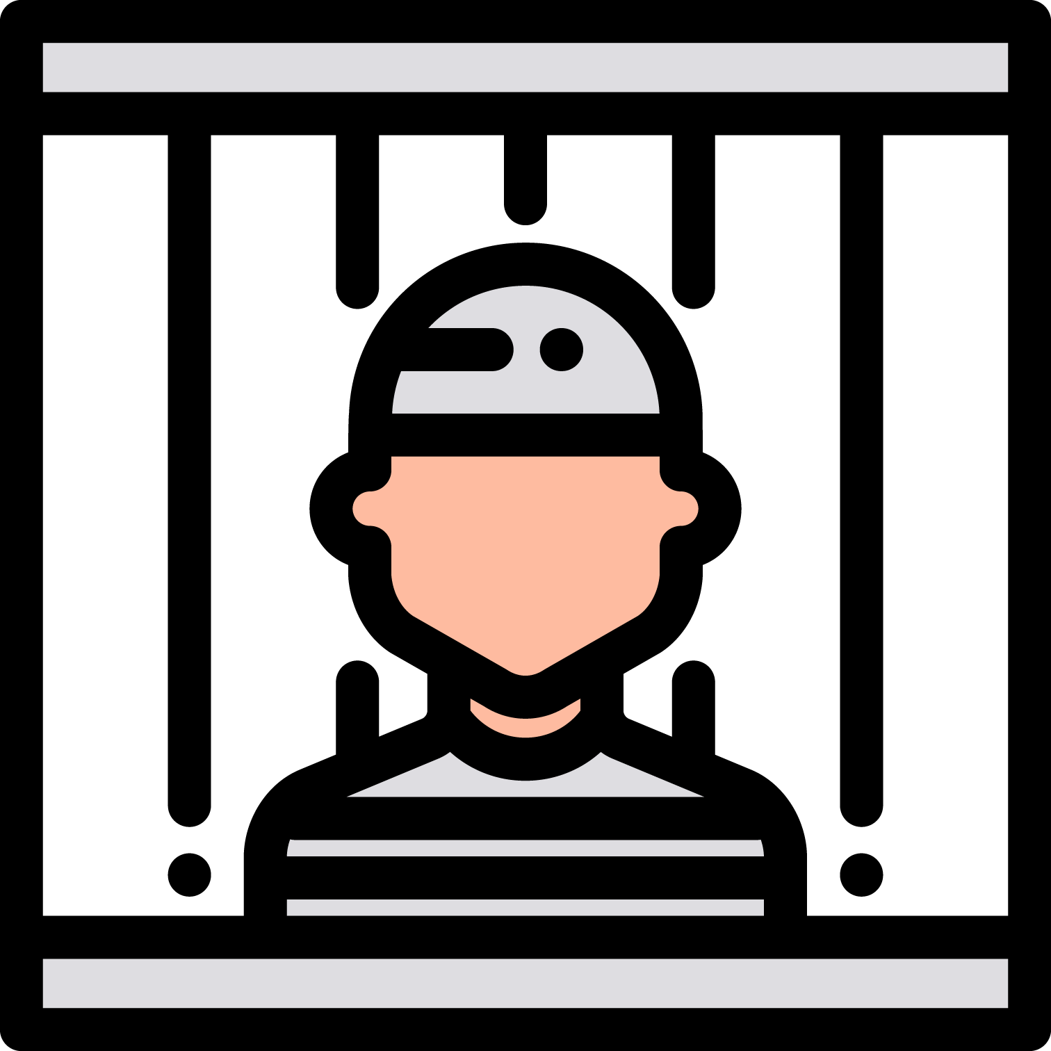 Jail clipart detained. Prison crime police computer
